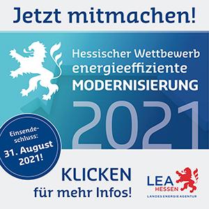 Anzeige von LEA Hessen zum Hessischen Wettbewerb energieeffiziente Modernisierung