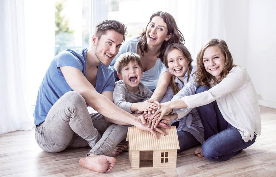 5 köpfige Familie