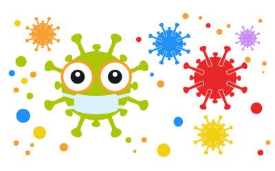Masken, Kinder und Coronavirus