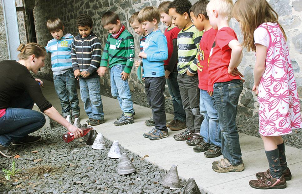 Kindergruppe im Stöffelpark