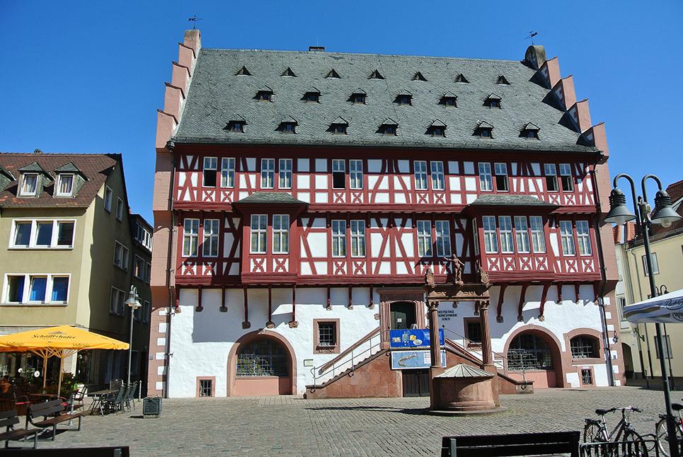 Außenansicht des Deutschen Goldschmiedehauses Hanau